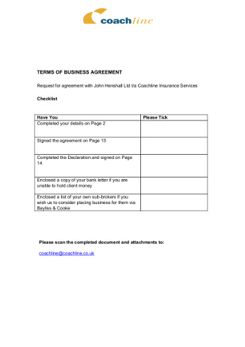 Download our Agency Terms and Conditions for Appointed Sub-Agents